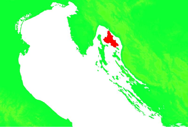 Ostrov Krk – geografie